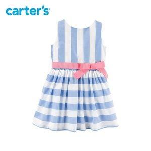 Carters Vertical Stripe Pastel Dress   Girls 3T